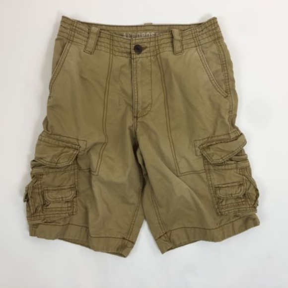 Aeropostale Pants - Aeropostale Womens 27 Cargo Shorts Solid Brown
